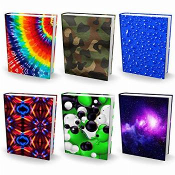 Book Sox Stretchable Book Cover 6 Print Value Pack. Fits