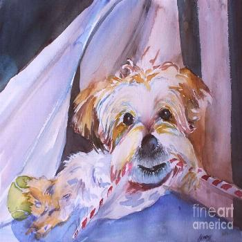 Painting - Two Bones Are Better Than One by Mindy Newman ,