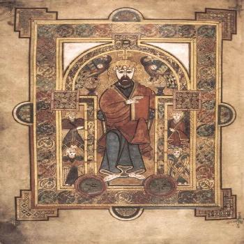 Poster-Book of Kells. 8th-9th c. Saint John the Evangelist-A1 poster sized print (594x841 mm) made