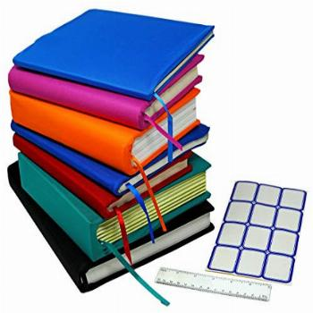 Stretchable Jumbo Book Covers 7 Pack Individual Colors Book
