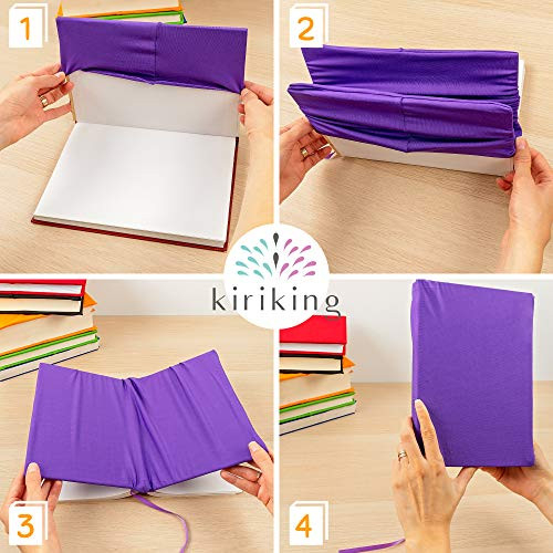 Book Covers Stretchable for All-Size Textbooks - Ruled Lined