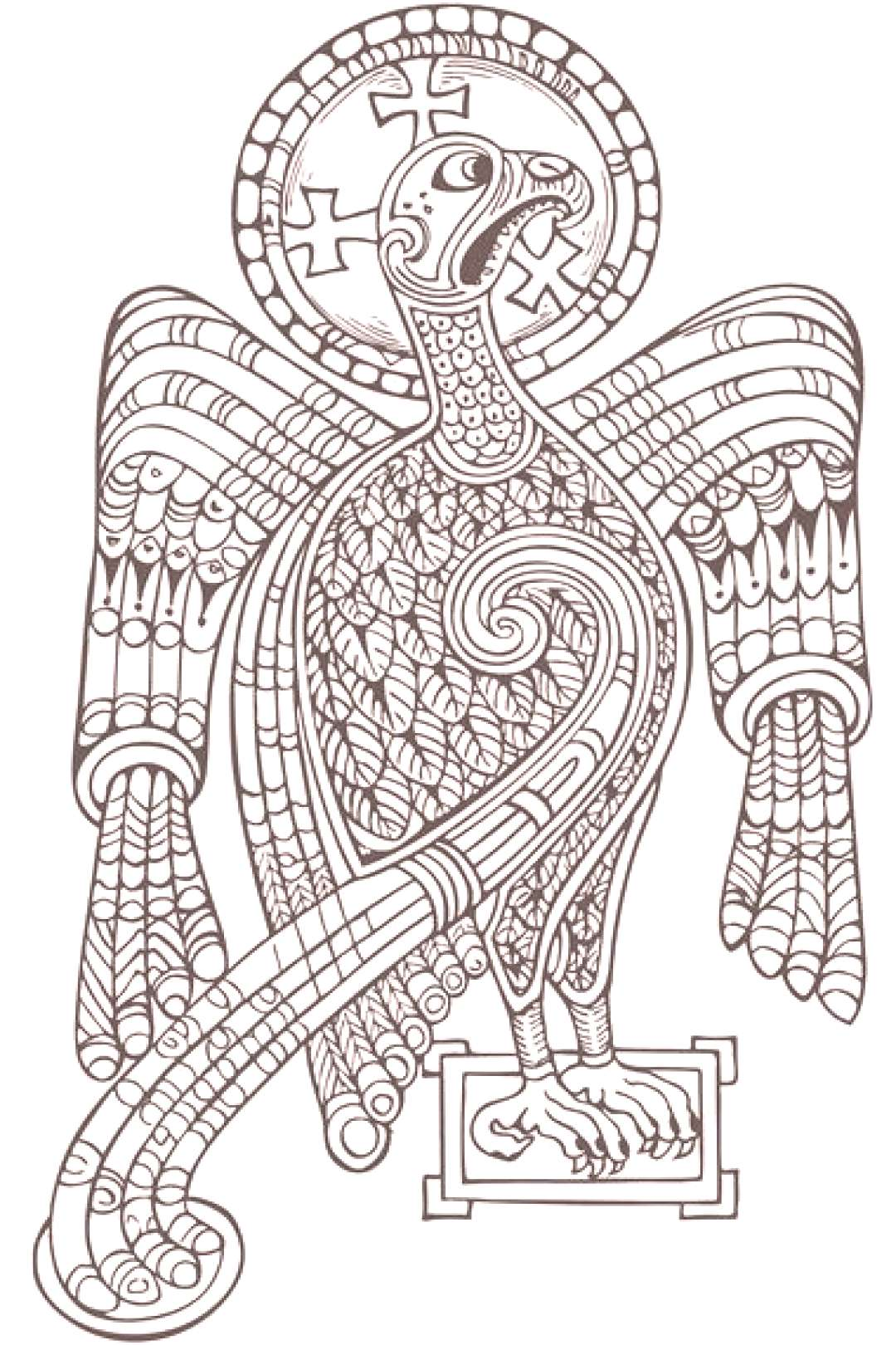 Book Of Kells Colouring Pages Printable Book Of Kells Colouring Pages Printable